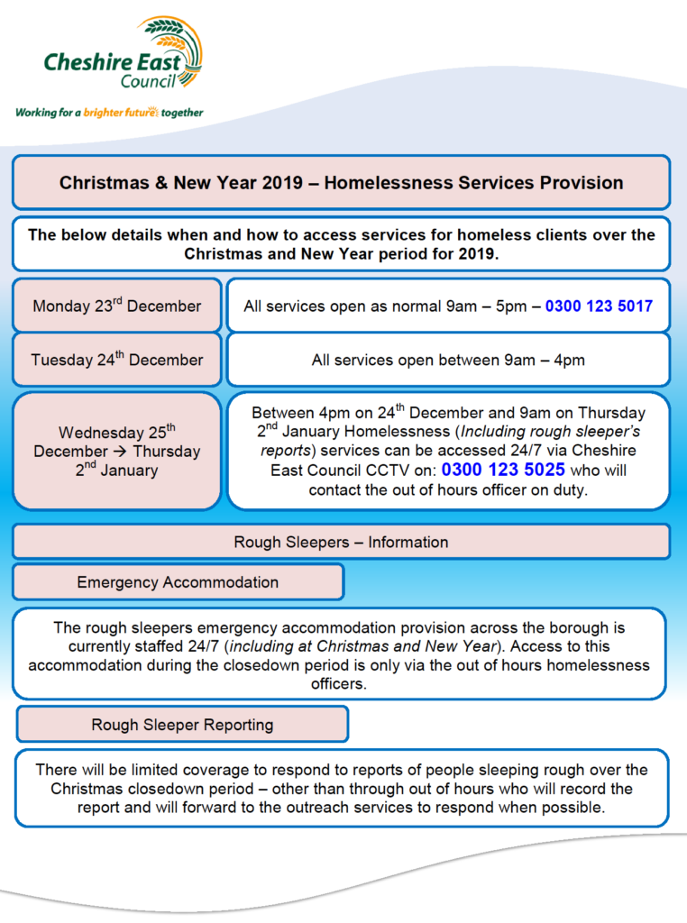 Cheshire East Council Homelessness Services Provision