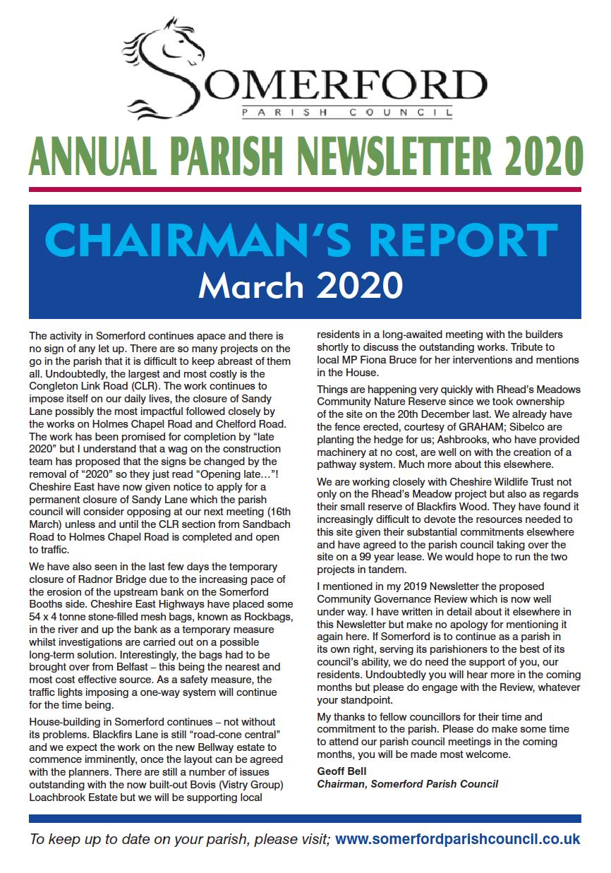 Parish Newsletter March 2020 opens pdf