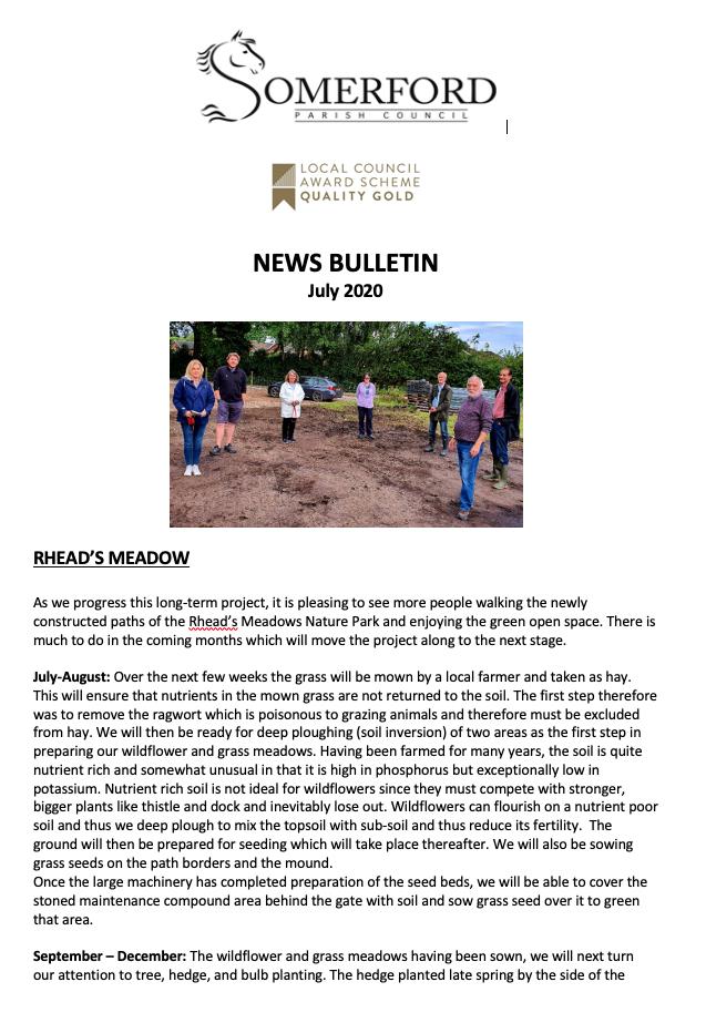 Newsletter July 2020 screenshot
