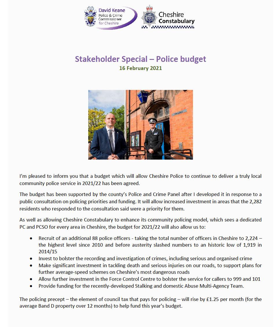 Police Bulletin Feb