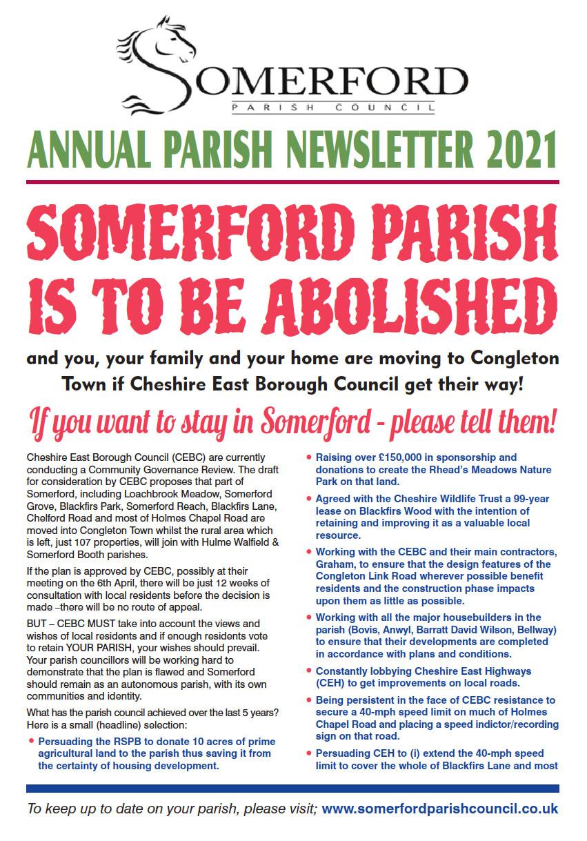 Somerford Parish Council Newsletter